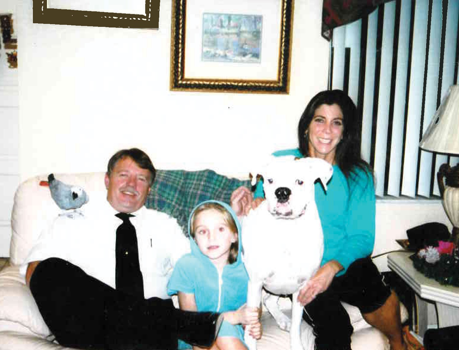 Family with husband Greg in 2004
