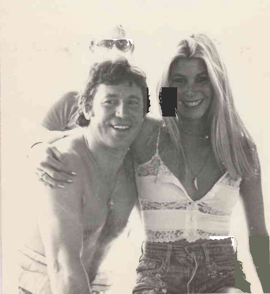 Mario Andretti and Kathy in South Africa 1978 Kyalami racetrack